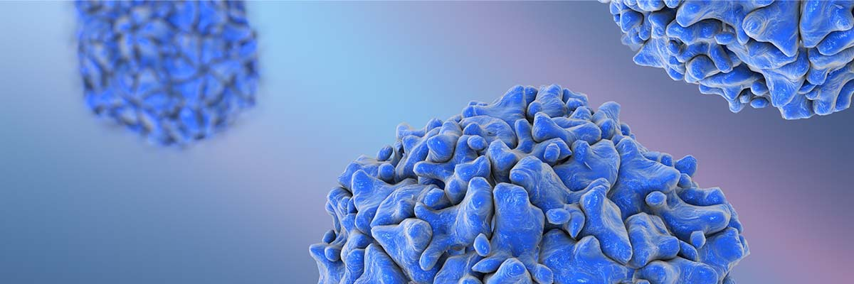 Close up of virus cells